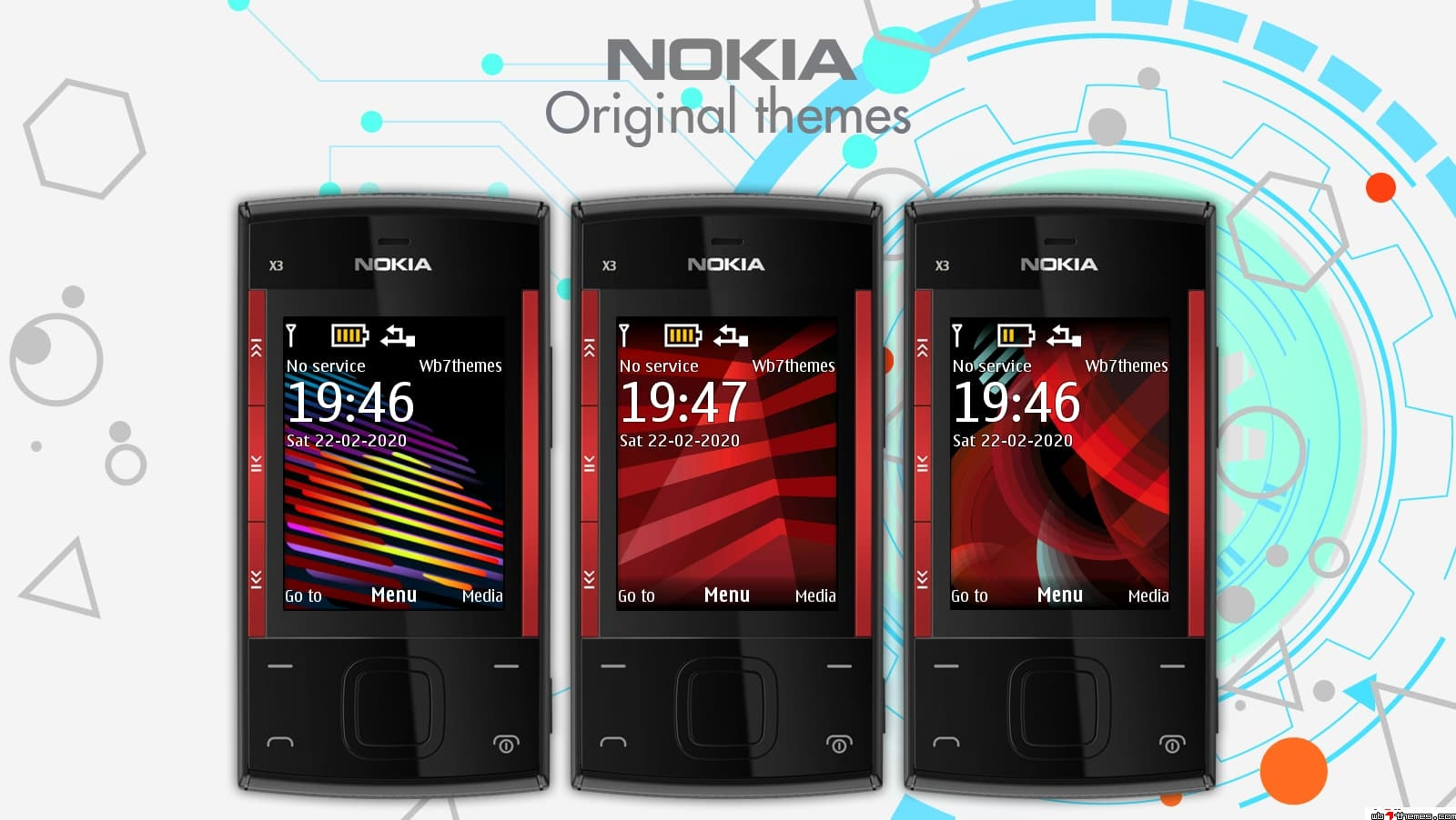 Nokia X2-00 original themes swf and static wallpapers
