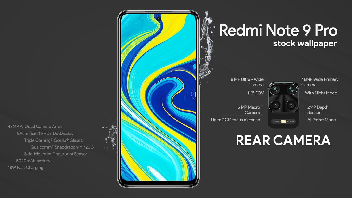 Redmi Note 9 Pro stock wallpapers download here