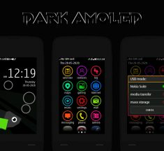 Dark amoled theme Asha full touch 240×400