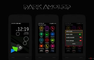 Dark amoled theme Asha full touch 240x400 311 310 309 308 306 305