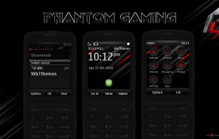 Phantom gaming theme Asha 300 X3-02 C2-06 303 240x320 touch type