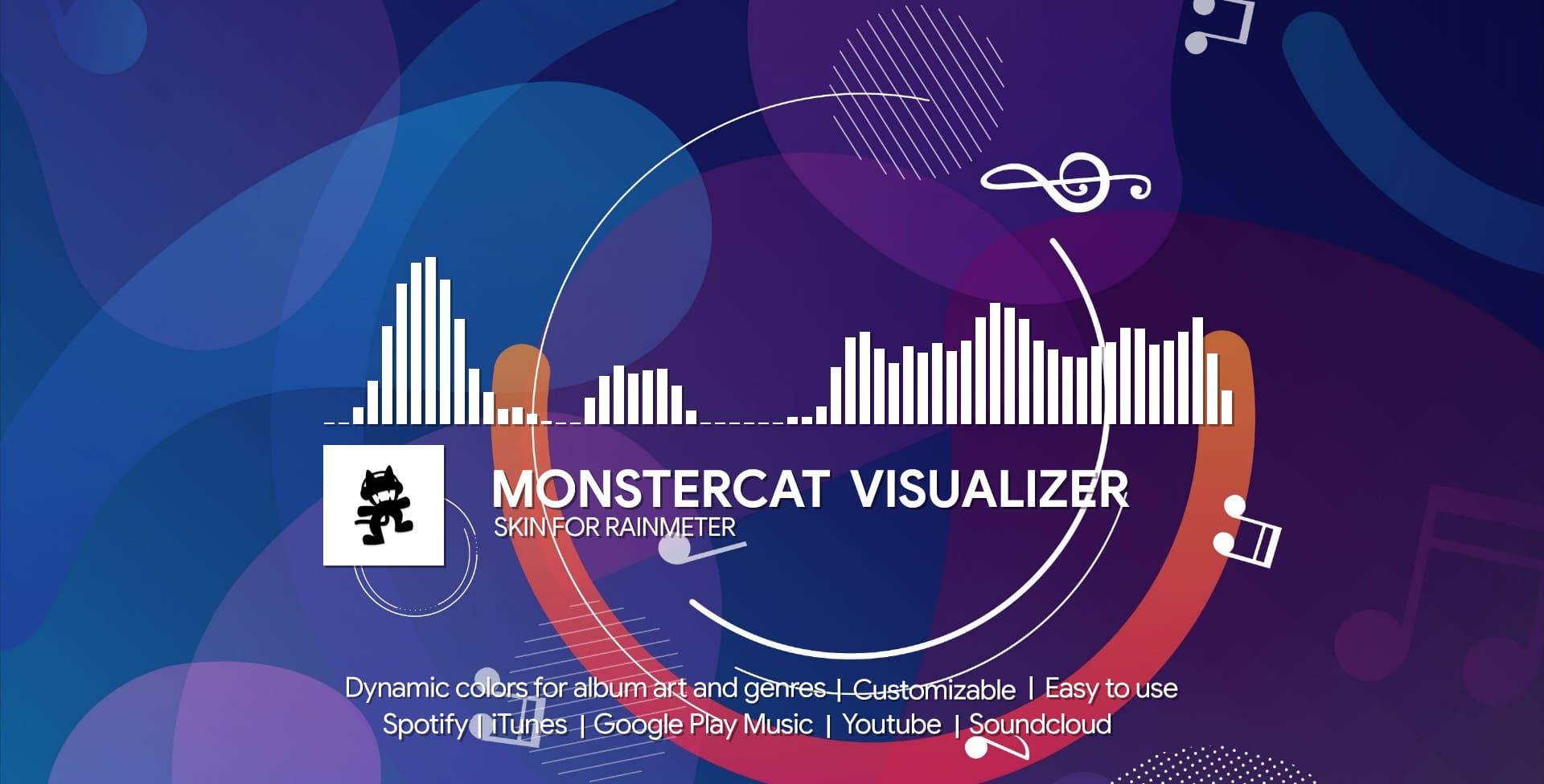 Monstercat Visualizer skin for Rainmeter 4.3 or higher