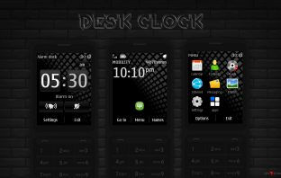 Desk clock analog digital swf theme Asha 302 X3-02 touch type