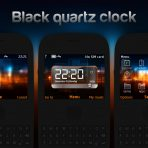 Black quartz clock swf theme nokia c3-00 x2-01 asha 302 by wb7themes