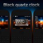 Black quartz clock swf theme nokia c3-00 x2-01 asha 302 by wb7themes