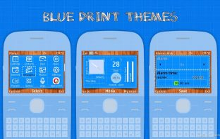 Blue print swf wallpaper theme X2-01 C3-00 Asha 302 210 205