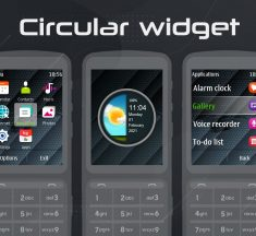 Circular clock widget theme X3-02 C3-01 touch and type s40 240×320