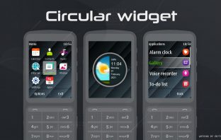 Circular clock widget theme X3-02 C3-01 touch and type s40 240x320