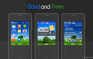 Clouds and tree swf day night widget tema untuk X2-00 X2-05 6300 206