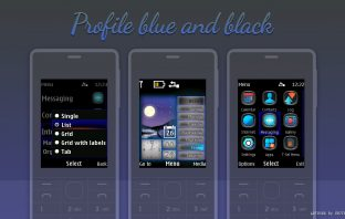 Blue and black profile swf live widget themes X2-00 X3-00 6300 X2-05 206