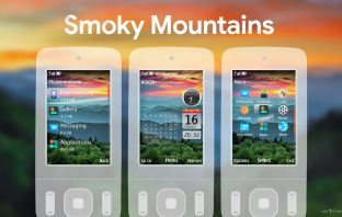 Smoky mountains swf sidebar clock theme 6260 slide