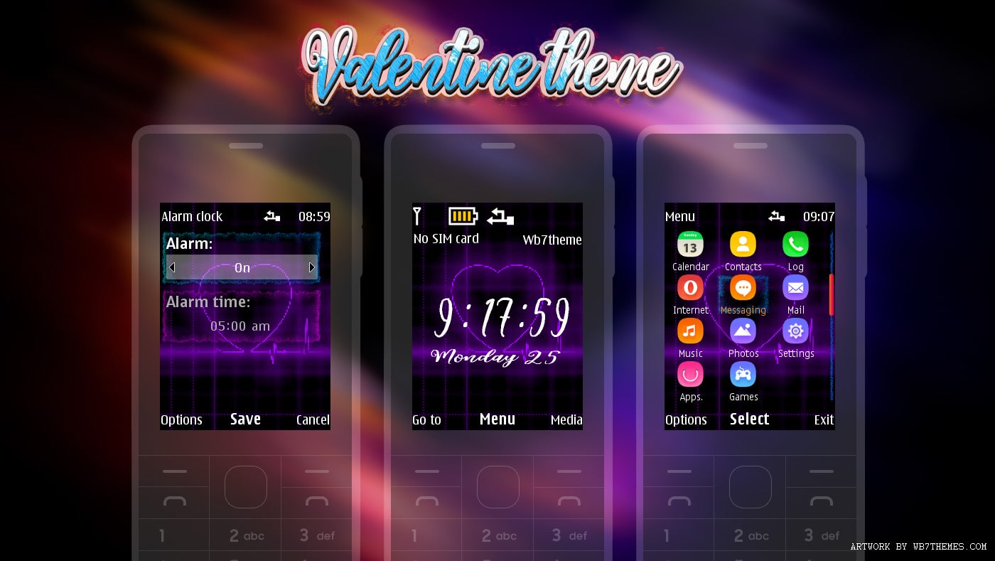 Valentine theme swf and static for X2-00 X3-00 206 6300 s40 240x320