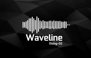 Waveline music visualization skin for Rainmeter Windows