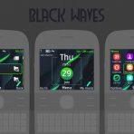 black-waves-flash-lite-clock-theme-X2-01-C3-00-Asha-302-201-200-210-205-by-wb7themes