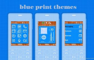 Blue print swf widget and static theme Nokia X2-00 X2-02 X3-00 6300 206
