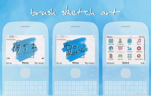 Sketch brush art swf wallpaper theme X2-01 C3-00 Asha 302 210 205