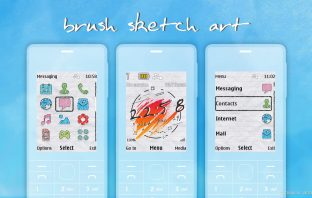 Brush sketch theme X2-00 X3-00 X2-05 6300 206 s40 240x320