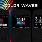 color waves digital clock themes x2-01 c3-00 asha 302 210 205 201 200 wb7themes