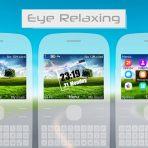 eye relaxing swf flash lite digital clock theme nokia c3-00 x2-01 asha 302 by wb7themes