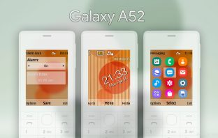 Galaxy A52 style with swf clock theme Nokia X2-00 X2-05 X3-00 206 6300