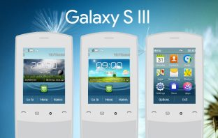 Galaxy S3 clock widget style swf theme Asha 303 X3-02 touch and type