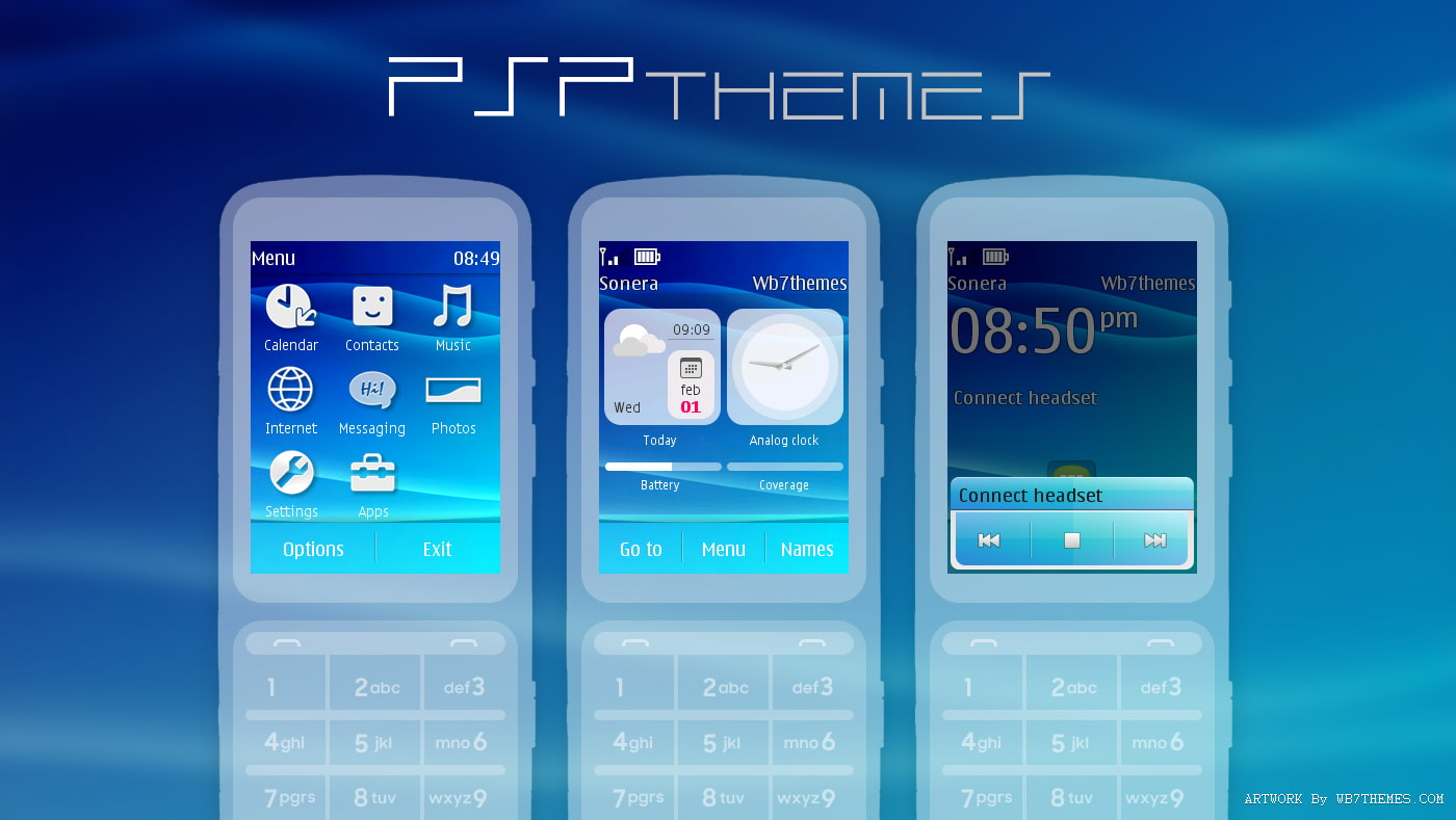 PSP style Theme for Nokia touch and type X3-02 C3-01 Asha 300 303