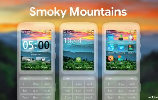 Smoky mountains flash lite monthly calendar theme X3-02 C2-02 C3-01