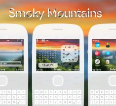 Smoky mountains analog digital clock swf theme Asha 302 X2-01