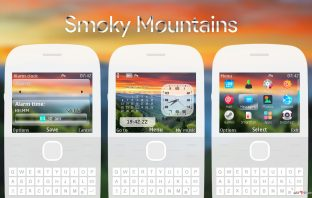 Smoky mountains analog digital clock swf theme Asha 302 X2-01 C3-00