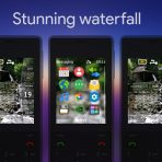 stunning waterfall animated gif with sidebar swf theme x2-00 6300 x2-05