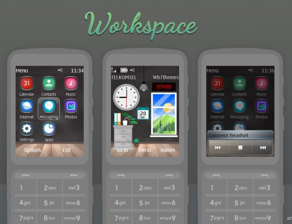Workspace live swf theme Nokia X3-02 C3-01 Asha 303 touch and type